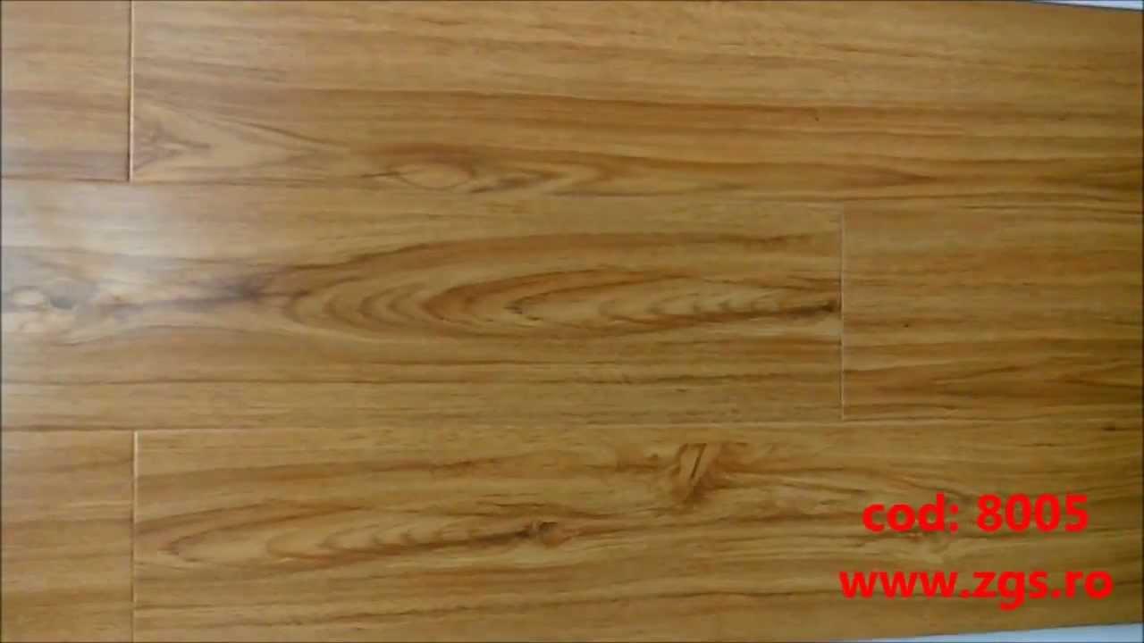 Parchet laminat ieftin pret 12 mm Stejar Auriu 8005 - YouTube