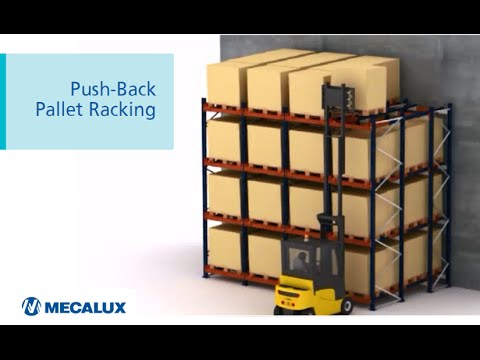 Push-back Pallet Racking, optimal use of available space | Mecalux Group
