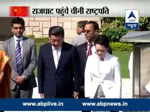 Xi Jinping, wife pay respects to Mahatma Gandhi at Rajghat