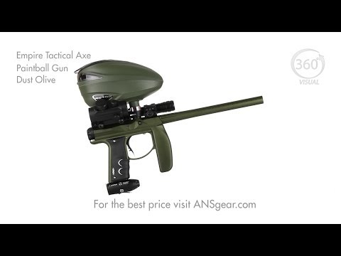Empire Tactical Axe Paintball Gun - Dust Olive - Visual 360 *ACCESSORIES NOT INCLUDED*