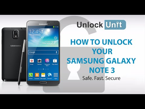 UNLOCK SAMSUNG GALAXY NOTE 3 - HOW TO UNLOCK YOUR SAMSUNG GALAXY NOTE 3