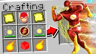 CRAFTING THE FLASH IN MINECRAFT!
