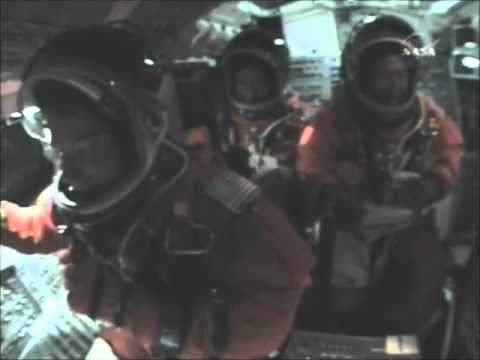 STS-123 Cockpit Launch Video With Cockpit Audio!