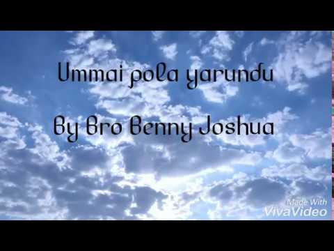 Ummai pola yarundu cover with lyrics | Bro Benny Joshua | Team Proskunetes |