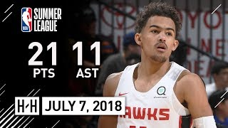 Trae Young Full Highlights vs Knicks (2018.07.07) Summer League - 21 Pts, 11 Assists