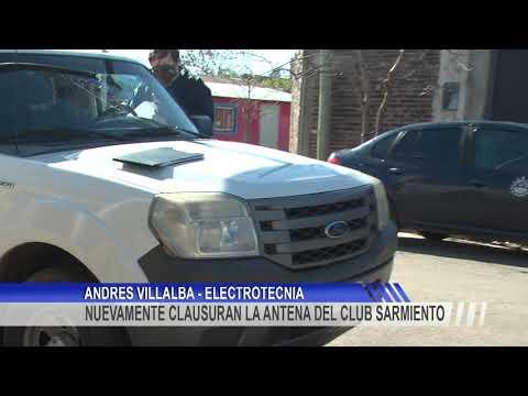 Nuevamente clausuraron la antena instalada en el Club Sarmiento