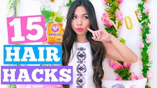 15 Life Hacks You NEED to Know to Grow Your Hair Fast!