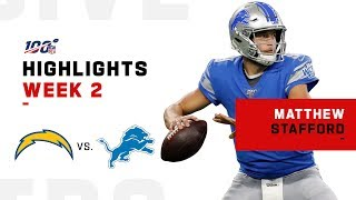 Matthew Stafford Highlights vs. Chargers | NFL 2019