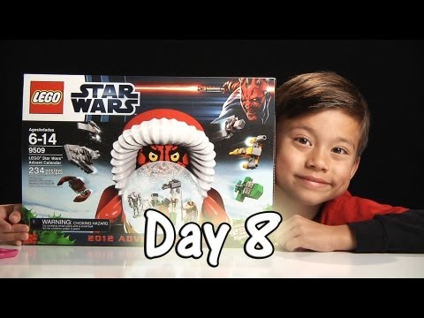 Day 8 LEGO STAR WARS Advent Calendar Review Set 9509 - 2012 -  Stop Motion & FREE CODE