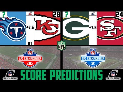 NFL Conference Championship Score Predictions 2020 NFL PLAYOFF PICKS AGAINST THE SPREAD 2020