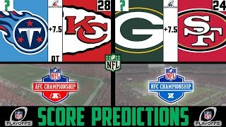 NFL Conference Championship Score Predictions 2020 (NFL PLAYOFF PICKS AGAINST THE SPREAD 2020)