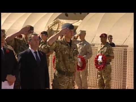 Prince William in Afghanistan Remembrance Sunday 2010: ITN
