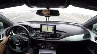 P.O.V. Audi A7 3.0T with Muffler Delete Straight Pipe Custom Exhaust - Highway Cruise POV