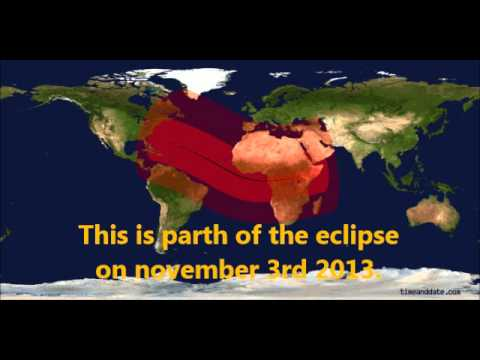 Astronomy News November 3rd Solar Eclipse