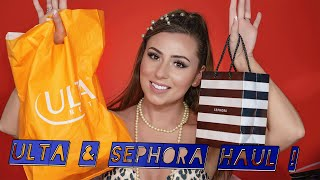 ULTA AND SEPHORA HAUL + TRYING NEW MAKEUP!