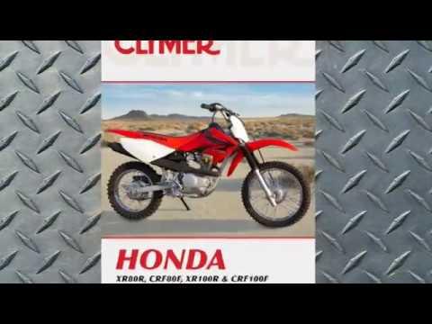 Clymer Manuals Honda XR80R CRF80F XR100R CRF100F Maintenance Repair Shop Manual Video