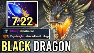 NEW IMBA BLACK DRAGON 7.22 Scepter DK -90% Damage Even Fountain Can't Kill 56 Armor by Mage Dota 2