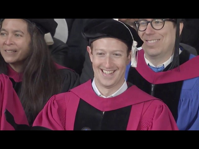 Mark Zuckerberg gets his Harvard degree after dropping out 12 years ago
