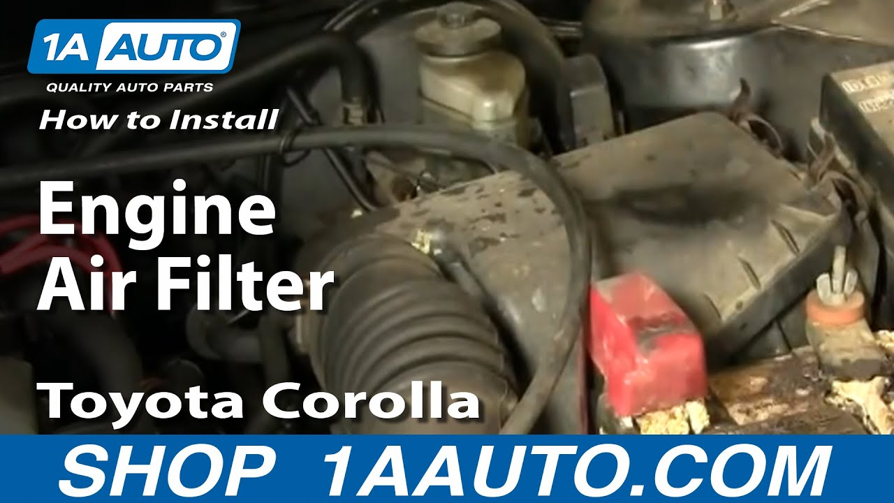 How To Install Replace Engine Air Filter Toyota Corolla 98