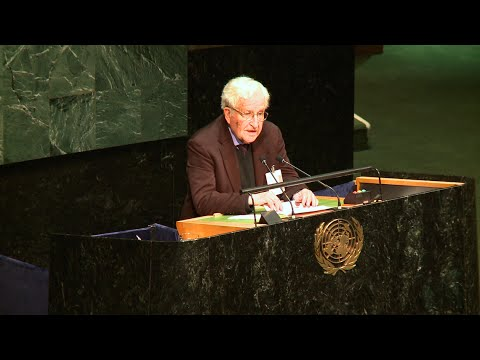 "http://democracynow.org - As U.N. Secretary-General Ban Ki-moon announces plans to set up an investigation into the attacks on United Nations facilities during Israel\'s recent assault on the Gaza Strip, we broadcast the speech of world-renowned political dissident Noam Chomsky, who recently spoke in the hall of the U.N. General Assembly at an event sponsored by the United Nations Committee on the Exercise of the Inalienable Rights of the Palestinian People. ""The pattern that was set in January 1976 continues to the present,"" said Chomsky, Institute Professor Emeritus at Massachusetts Institute of Technology. ""Israel rejects a settlement of these terms and for many years has been devoting extensive resources to ensuring it will not be implemented with the unremitting and decisive support of the United States — military, economic, diplomatic and ideological.""  Watch the full 50-minute discussion with Noam Chomsky at the United Nations aired on Democracy Now!: http://www.democracynow.org/appearances/noam_chomsky  Democracy Now!, is an independent global news hour that airs weekdays on 1,200+ TV and radio stations Monday through Friday. Watch our livestream 8-9am ET at http://democracynow.org.  Please consider supporting independent media by making a donation to Democracy Now! today: http://owl.li/ruJ5Q  FOLLOW DEMOCRACY NOW! ONLINE: Facebook: http://facebook.com/democracynow  Twitter: https://twitter.com/democracynow YouTube: http://youtube.com/democracynow  SoundCloud: http://soundcloud.com/democracynow  Daily Email: http://democracynow.org/subscribe  Google+: https://plus.google.com/+DemocracyNow Instagram: http://instagram.com/democracynow Tumblr: http://democracynow.tumblr Pinterest: http://pinterest.com/democracynow"