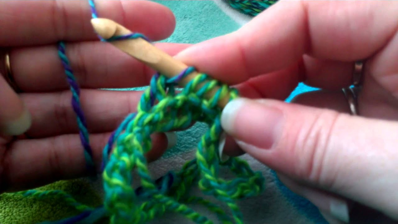 Tunisian Knit Stitch In The Round : Tunisian Crochet in the round - YouTube
