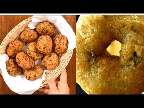 2 easy vada recipes |  lobia masala vada recipe | quick & easy snacks recipes | medu vada recipe