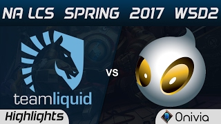 TL vs DIG Highlights Game 3 NA LCS Spring 2017 W5D2 Team Liquid vs Dignitas