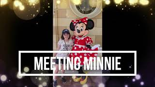 Meeting Minnie Mouse   DISNEYLAND 2018