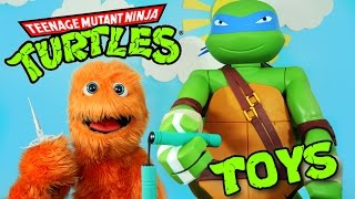 TMNT Teenage Mutant Ninja Turtles Toys! SUPER GIANT SURPRISE OPENING Nickelodeon Kids Nick Jr