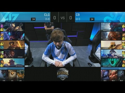 CLG (Aphromoo Braum) VS C9 (Bunny Fufuu Thresh) Game 1 Highlights - 2016 NA LCS Summer W2D3