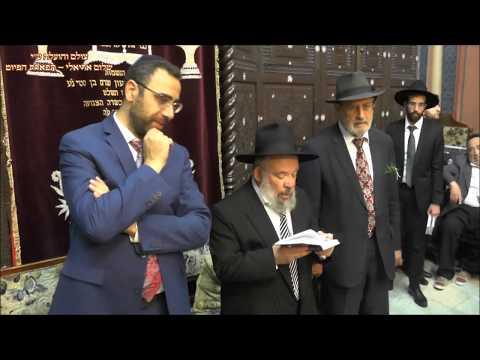 תפילת ערבית החזן שלמה נחמיאס בביהכנ''ס עדס מוצש''ק ת מ חג'אז