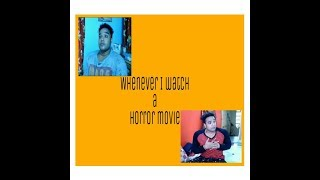 Whenever I watch a horror movie । New bengali funny horror video । Hukomukho Bong