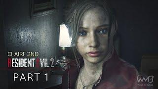 Resident Evil 2 Remake (Claire B) - R.P.D. / Birkin G1 Boss Fight / Orphanage - Part 1 (HARDCORE)