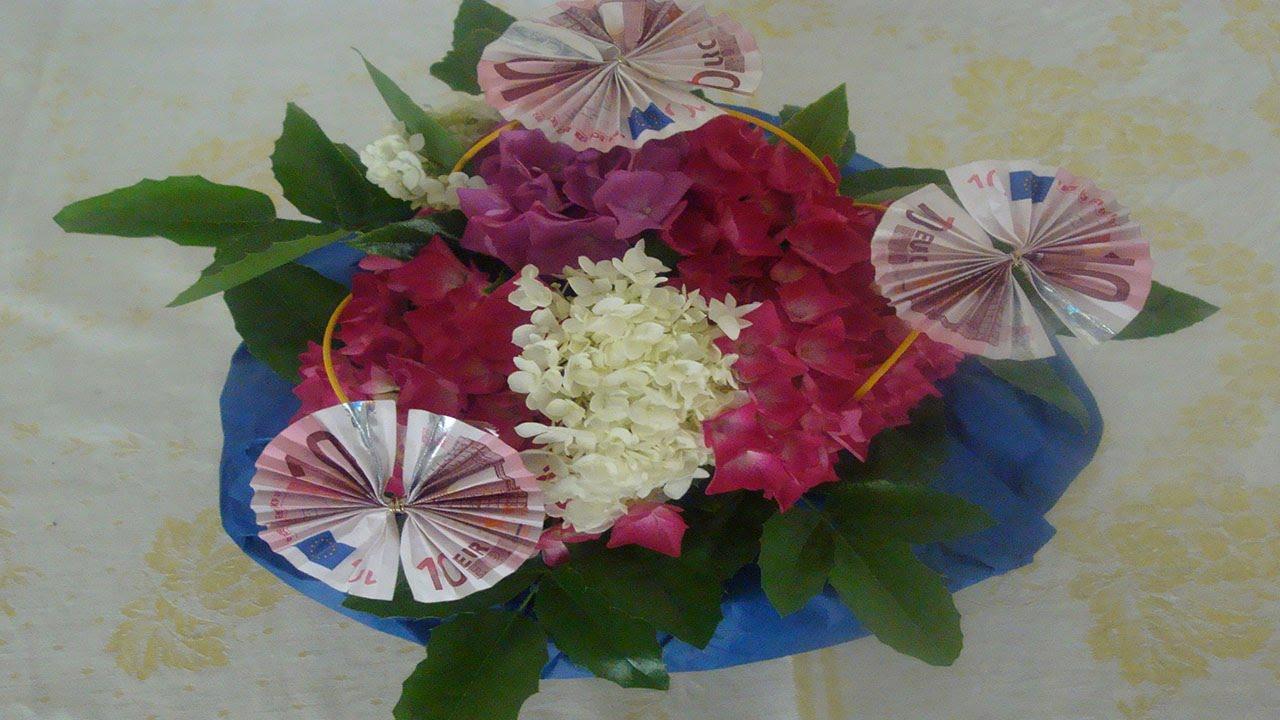 Geldgeschenk zum Geburtstag mit Blumen Flora-Shop - YouTube