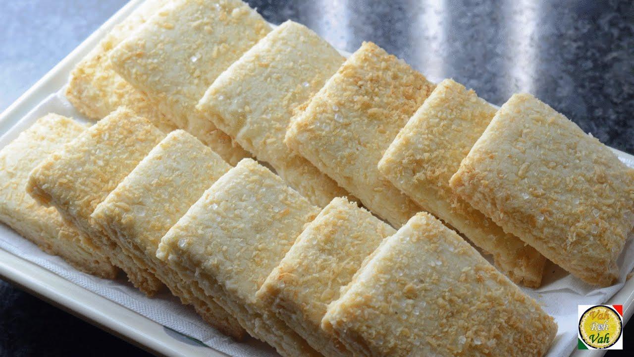 Coconut Cookies - By Vahchef @ vahrehvah.com - YouTube