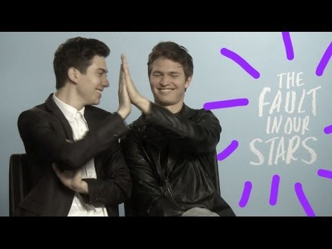 Ansel Elgort and Nat Wolff talk The Fault in Our Stars and being in the Paper Towns movie together