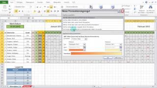 Excel 2010: Feiertage & Wochenenden im Dienstplan darstellen mit bedingter Formatierung