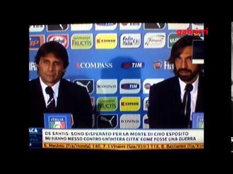 Conte e Pirlo la loro stima e amicizia anche in Nazionale - Italia Azerbaigian