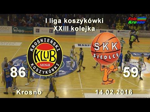 Koszykówka: Miasto Szkła Krosno - SKK Siedlce (cały Mecz)