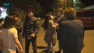 Пьяные девушки устроили дебош в центре Бишкека