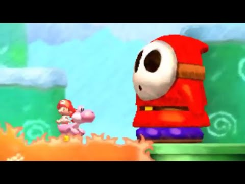 Yoshi's New Island (3DS) - Walkthrough Part 1 - World 1
