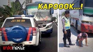KAPOK..!! Inilah Aksi Sopir Bus Ugal-Ugalan Gagal Ngeblong
