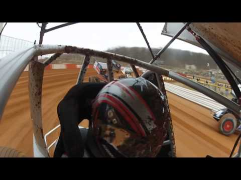 Lincoln Speedway 410 Sprints Car Highlights 3-02-13