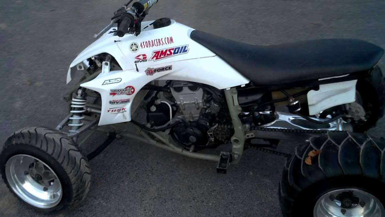 Wild Yamaha YFZ450 Drag Quad - ATV Drag Racing - Trinity Engine - YouTube