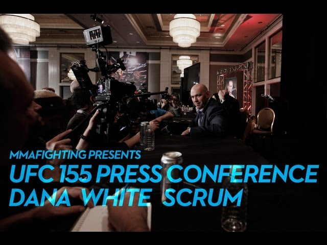 UFC 155: Dana White Post-Fight Scrum (Complete)