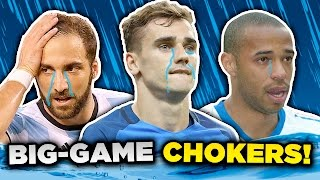 10 Players Who CHOKE in Big Games! | Henry, Griezmann & Ibrahimovic