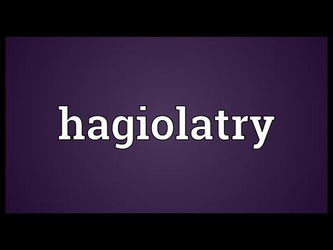 Header of hagiolatry