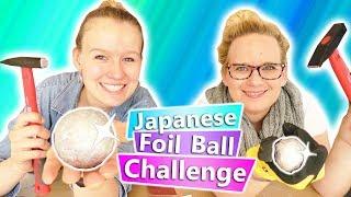 JAPANESE FOIL BALL Challenge deutsch | Aluminium Ball polieren! Spiegel Effekt? DIY Eva vs. Kathi