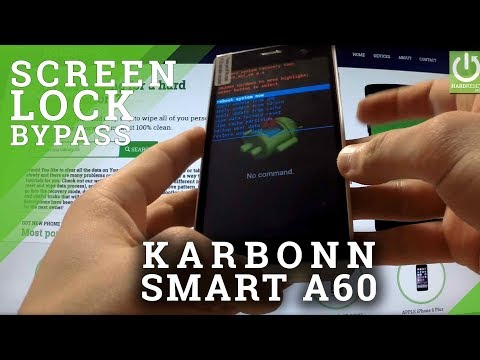Hard Reset KARBONN SMART A60 - remove Pattern Lock by Recovery Mode