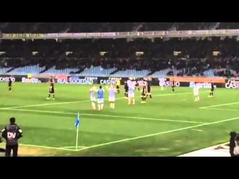 Gol Carlos Vela Real Sociedad Racing Santander partido Copa